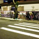 """Um grupo libertário de muralistas surgiu recentemente em São Paulo e já realizou alguns trabalhos nas ruas da cidade, o último no """"Dia Internacional das Mulheres""""."""