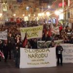 Bloco libertário protesta contra o governo croata