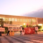 Antifascistas se manifestam em frente ao fórum de Mogi das Cruzes