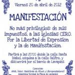 [Espanha] Crônica da manifestação ateísta em Madri