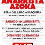 [Espanha] A CNT de Bilbao promove feira de livros anarquistas neste final de semana