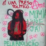 [Brasil] Grafitagem em muros do centro de São Paulo por Mumia Abu-Jamal