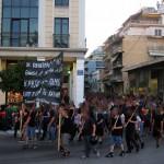 [Grécia] Patras: Manifestação em defesa da okupa Parartima