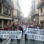 [Espanha] Protesto pela liberdade dos cinco anarquistas de Barcelona reúne dezenas de pessoas
