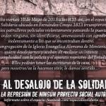 [Uruguai] Campanha contra a desocupação do espaço autogestionado La Solidaria