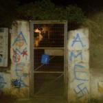 [Grécia] Fascistas picham muros de okupa em Atenas