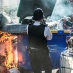 [Reino Unido] Fogo e barricadas durante a expulsão de squatters no bairro de Brixton, em Londres