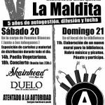 [Espanha] Burgos: V aniversário da Biblioteca Anarquista La Maldita