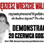 [Polônia] Protesto contra a Liquidação da Jornada de 8 horas e Ataques aos Direitos dos Desempregados