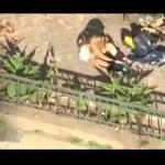 [Chile] Santiago: Detida e processada Io Giuria, companheira encapuzada filmada lançando um coquetel molotov