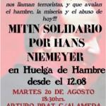 [Chile] Carta de Hans Niemeyer anunciando greve de fome