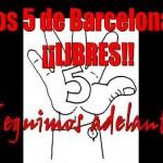 """[Espanha] Os 5 anarquistas de Barcelona estão em liberdade: """"Crônica de um dia feliz"""