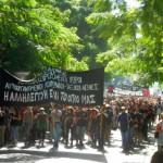 """[Grécia] Passeata em solidariedade com as okupas: """"Somos as primeiras gotas de uma tempestade que se aproxima"""""""