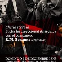 """Ciclo de palestras com Alfredo Bonanno pelo Cone Sul: """"A luta insurrecional anárquica"""""""
