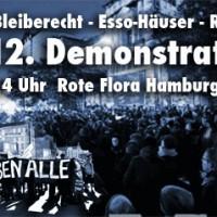 [Alemanha] Hamburgo: Mani em 21 de dezembro em solidariedade com a okupa Rote Flora, a iniciativa de habitação Esso e pelo direito de permanência dos refugiados