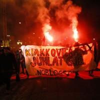 Protesto no Dia da Independência da Finlândia reúne centenas de anarquistas