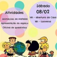 Pequena Mafalda: Convite para Crianças (e seus adultos) na Casa Mafalda, em São Paulo