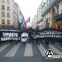 [França] Breve relato da manifestação antifascista em Paris, dia 9 de fevereiro