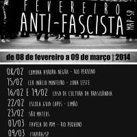 """Programação do """"Fevereiro Antifascista 2014"""", em São Paulo (SP)"""