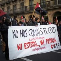 [Espanha] Comunicado do Sindicado de Ensino da CNT-AIT sobre o ocorrido na manifestação do Sindicato de Estudantes