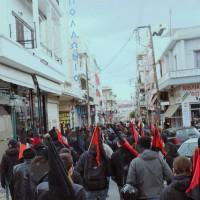 [Grécia] Protesto antifascista no bairro de Nikea, em Atenas