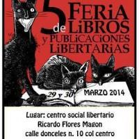 [México] 5ª Feira de Livros e Publicações Libertárias