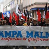 [Suécia] Milhares de pessoas manifestaram-se em Malmo após ataque neonazista recente