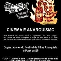 """Ao vivo na Rádio Cordel Libertário: """"Cinema e Anarquismo"""""""
