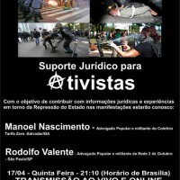 "Ao vivo na Rádio Cordel Libertário: ""Suporte Jurídico para Ativistas"""