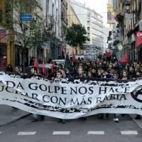 [Espanha] Madri: Uma centena de pessoas convocadas pela CNT e Juventudes Libertárias marcham contra a repressão