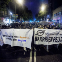 [Espanha] Terceira noite de protestos contra o despejo do Centro Social Autogestionado Can Vies