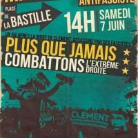 [França] Mais do que nunca, combatamos a extrema-direita, em Paris, dia 7 de junho