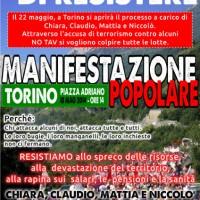 [Itália] Turim: Dezenas de milhares de companheirxs saem às ruas ao lado de Chiara, Mattia, Claudio e Niccolò
