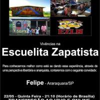 """Rádio Cordel Libertário transmite ao vivo nesta quinta-feira """"Escuelita Zapatista"""""""