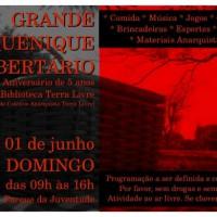 São Paulo: Grande Piquenique Libertário – 5 Anos da Biblioteca Terra Livre