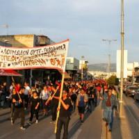 [Grécia] Egáleo, Atenas: Marcha contra os campos de concentração para imigrantes
