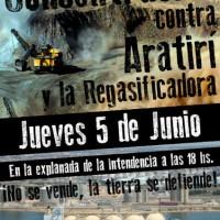 [Uruguai] Panfleto da concentração contra a mineradora Aratirí e a gasificadora: A terra não se vende, se defende!