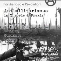 [Alemanha] Dortmund: Campanha Antimilitarista, 1–3 de agosto de 2014