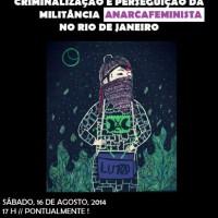 São Paulo: Roda de Conversa: Criminalização e perseguição à militância anarca-feminista no Rio de Janeiro