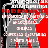 Convite para o XIII Expressões Anarquistas em Araraquara (SP)