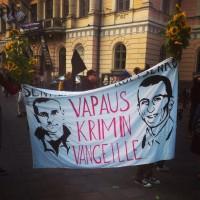 [Finlândia] Manifestação contra a guerra na Ucrânia em Helsinki