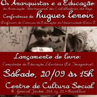 """São Paulo: Conferência """"Os Anarquistas e a Educação: da AIT até hoje"""""""