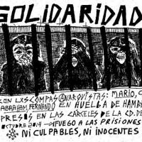 [México] Informe do estado de saúde de Carlos, Mario, Fernando e Abrahan, anarquistas em greve de fome