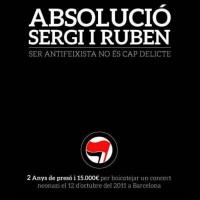 [Espanha] Barcelona: Condenado a dois anos de prisão os antifascistas Sergi e Ruben