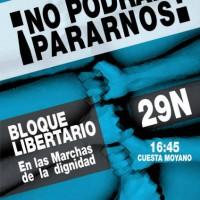 [Espanha] Madri: Espaço Libertário se junta a manifestação de 29N