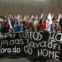 [Grécia] Calcídica: Brutal repressão de massiva manifestação antimineradora