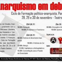 Parnaíba: O Anarquismo em debate - Ciclo de Formação político-anarquista