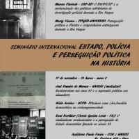 """Rio de Janeiro: Seminário Internacional """"Estado, Polícia e Perseguição Política na História"""""""