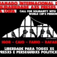 Chamado internacional para ações de solidariedade xs presxs da Copa