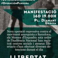 [Espanha] CNT de Sabadell pela liberdade dos detidos na Operação Pandora